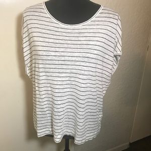 Madewell Short Sleeve Striped Blouse Size L